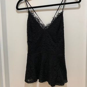 Express, Black Lace Peplum Cami, Small, With Tags